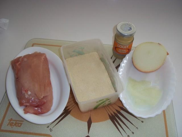 Pechuga de pollo con mostaza empanados