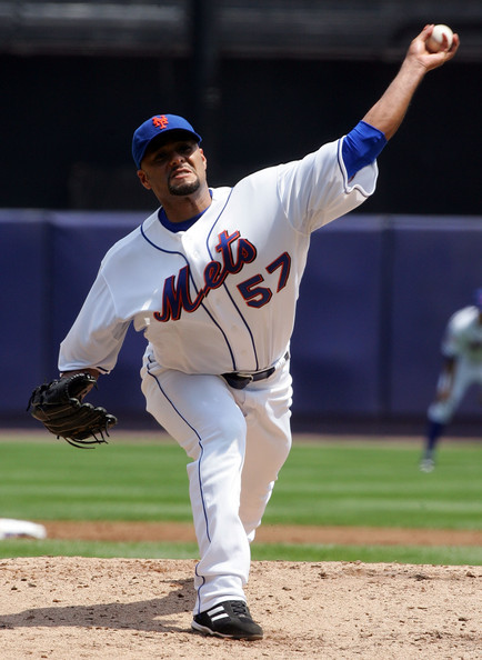 Johan Santana Johan Santana #57 of the New York Mets deals a pitch against the San Diego Padres on August 7, 2008 at Shea Stadium in the Flushing neighborhood of the Queens borough of New York City.