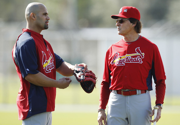 Albert Pujols and Tony LaRussa - St. Louis Cardinals Spring Training Workout Session